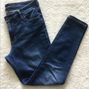 Old Navy Super Skinny Mid Rise Blue Jeans